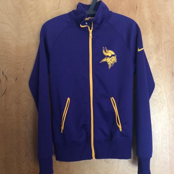 finest selection 5b406 56917 Nike NFL Vikings Jersey Jacket; like new!